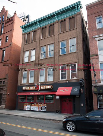 030317 Wesley Bunnell   Staff The Angry Bull Saloon in Hartford is shown where CCSU student Taylor Lavoie is believed to have fallen to her death from the 4th floor rooftop early in the morning on March 3. The alley where her body was discovered is shown to the right.