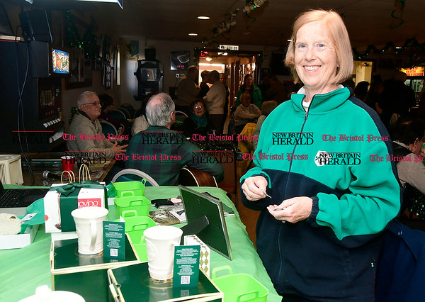 3/4/2017 Mike Orazzi   Staff Kathleen Walsh Lescoe during the St. Patrick's Day Parade Committee Fundraiser/Sash Ceremony, AOH Irish Social Club in New Britain Saturday evening.