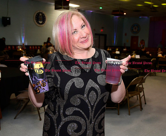 3/4/2017 Mike Orazzi | Staff Joanna Maltese during the New Britain High School Parent Music Associations third annual gala fundraiser held at the VFW Hall in New Britain Saturday evening. Her daughter Maeve plays the clarinet in the school's band.