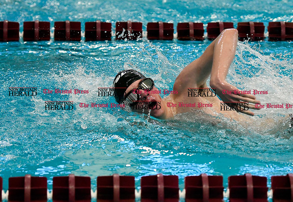 3/4/2017 Mike Orazzi   Staff Bristol swim team member Jacob Roloff during the CCC Swimming Championship held at Bulkeley High School in Hartford Saturday.