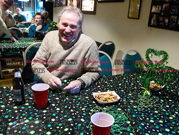 3/4/2017 Mike Orazzi   Staff Michael Donnelly during the St. Patrick's Day Parade Committee Fundraiser/Sash Ceremony, AOH Irish Social Club in New Britain Saturday evening.