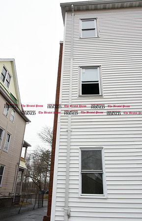 030717 Wesley Bunnell | Staff 709 Stanley St in New Britain where a woman fell from a third story window on Tuesday morning March 7.