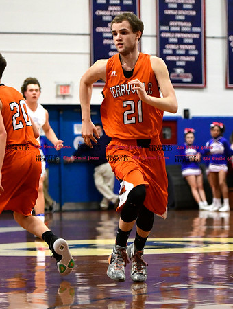 3/7/2017 Mike Orazzi | Staff Terryville's Shawn Iwanow (21) during the Class S First Round Boys Basketball Game in Bristol Tuesday night.
