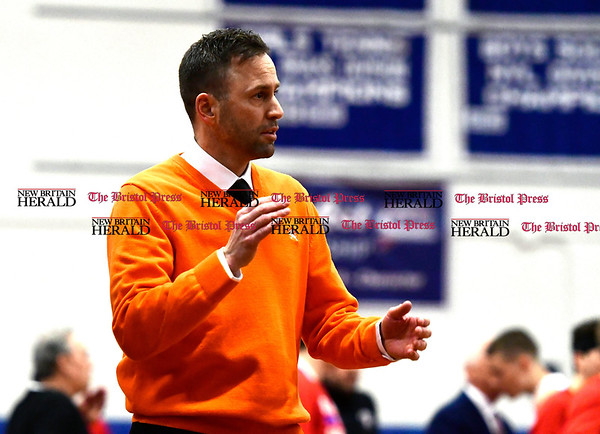 3/7/2017 Mike Orazzi | Staff Terryville's Mark Fowler during the Class S First Round Boys Basketball Game in Bristol Tuesday night.