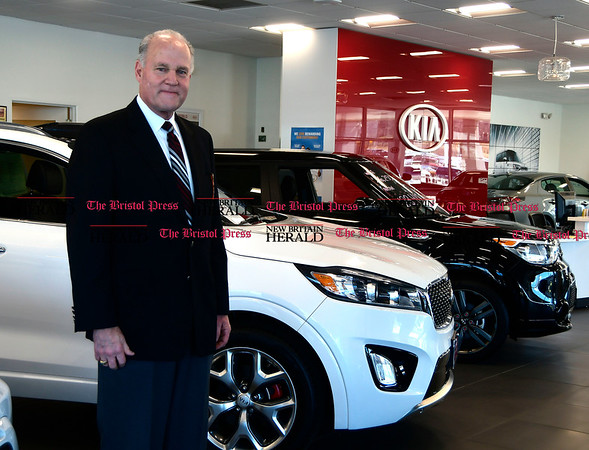 3/8/207 Mike Orazzi | Staff Crowley Auto Group Executive Vice President Steve Miller in the Kia showroom in Bristol.