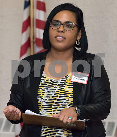 03/15/18 Wesley Bunnell | Staff Candidate for Secretary of the State Eva Bermudez Zimmerman speaks at the Pulaski Club on Thursday evening as she along with other Democratic candidates for state office met with the Democratic Town Committee as well as New Britain residents.