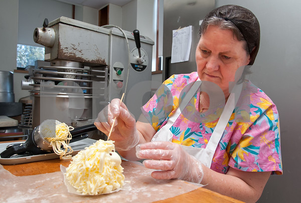 03/16/18 Wesley Bunnell | Staff Kristyna Gorecka prepares a butter lamb at St. Lucian's Residence in New Britain in preparation for the home's upcoming sale for the Easter Holiday.