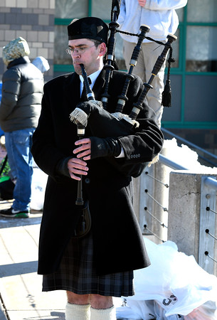 3/17/2018 Mike Orazzi   Staff The bagpipes are played during the 16th Annual Shamrock Run and Walk held at the Chippens Hill Middle School Saturday morning.