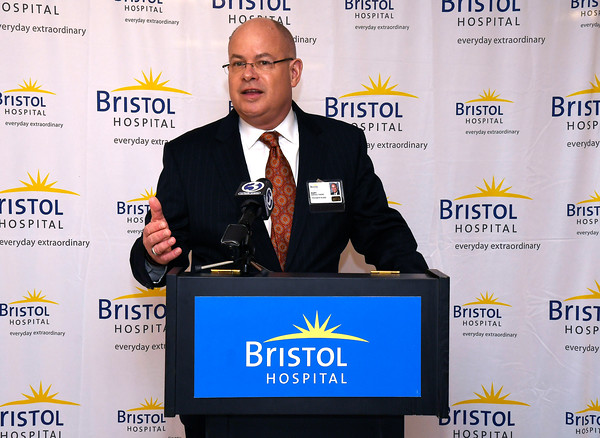 3/22/2018 Mike Orazzi   Staff Kurt Barwis. President and CEO, Bristol Hospital and Health Care Group, during a ribbon cutting event for its new nursing simulation room on Level B of the hospital's Center for Surgery and Endoscopy.