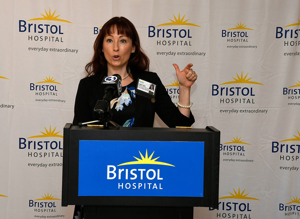 3/22/2018 Mike Orazzi   Staff Bristol Hospital's Chris Ann Meaney during a press conference about the hospital's ribbon cutting event for its new nursing simulation room on Level B of the hospital's Center for Surgery and Endoscopy.