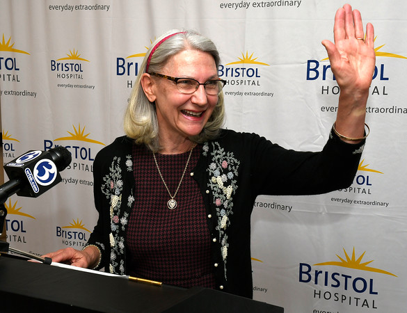 3/22/2018 Mike Orazzi   Staff Mary Ann Cordeau, PhD, RN—Bristol Hospital board member and associate professor, Quinnipiac School of Nursing during a ribbon cutting event for its new nursing simulation room on Level B of the hospital's Center for Surgery and Endoscopy.