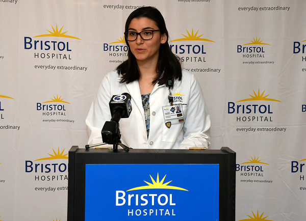 3/22/2018 Mike Orazzi   Staff Bristol Hospital's Valerie Varanelli during a press conference about the hospital's ribbon cutting event for its new nursing simulation room on Level B of the hospitals Center for Surgery and Endoscopy.