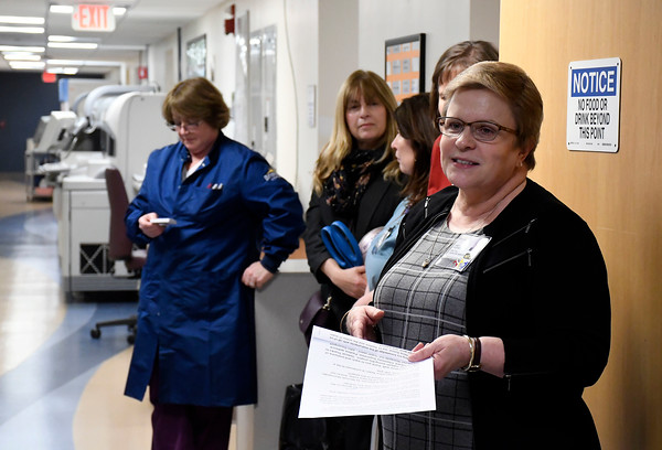 3/29/2018 Mike Orazzi   Staff Bristol Hospital's Cindy Dubowsky talks about a new blood processing machine.