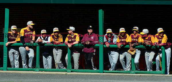 5/3/2017 Mike Orazzi   Staff New Britain during Wednesday's baseball game with Bristol Eastern at Muzzy Field.