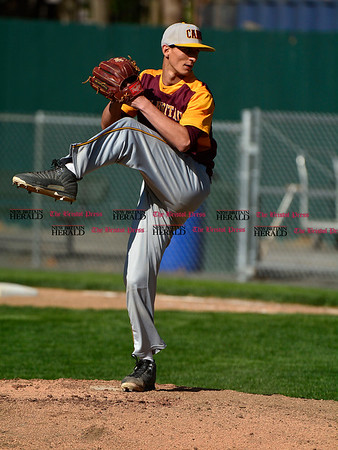 5/3/2017 Mike Orazzi   Staff New Britain's Will Homar (10) during Wednesday's baseball game with Bristol Eastern at Muzzy Field.