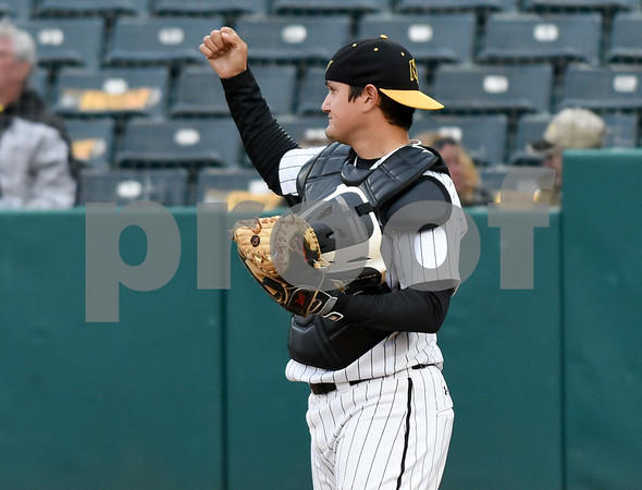 050417 Wesley Bunnell | Staff The New Britain Bees vs the Somerset Patriots on Thursday evening. Ivan Villaescusa (7) gets the start at catcher fort he night.