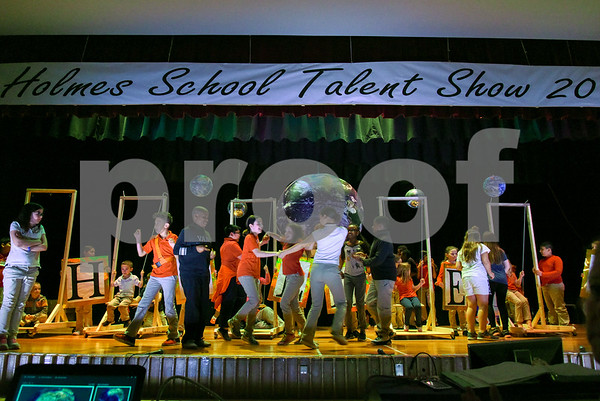 050917 Wesley Bunnell | Staff Students and teachers along with help from parents ran through a rehearsal for the upcoming Holmes School Talent Show 2017 which takes place this Friday.
