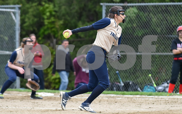 051017 Wesley Bunnell | Staff Newington High School softball vs E.O. Smith on Wednesday afternoon. Pitcher Katerina Legace (2).