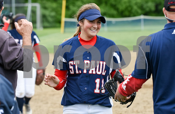 053017 Wesley Bunnell | Staff St. Paul softball defeated St. Barnard on Tuesday afternoon. Alessandra Milardo (11)