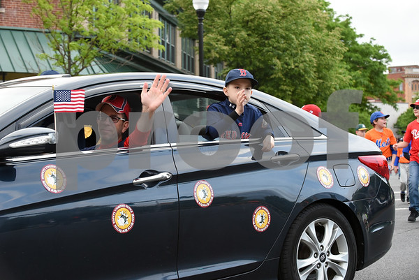 053017 Wesley Bunnell | Staff The City of New Britain held their annual Memorial Day Parade on Tuesday evening. Representatives from Fagan Baseball League.