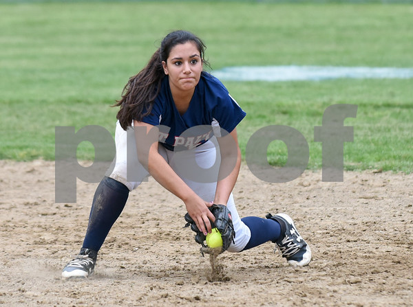 053017 Wesley Bunnell | Staff St. Paul softball defeated St. Barnard on Tuesday afternoon. Brooke Perez (61)