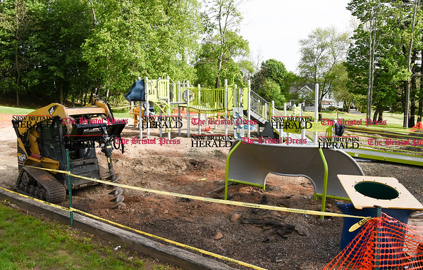 051617 Wesley Bunnell | Staff A new playground is being constructed at Walnut Hill Park to replace one torn down earlier this year.