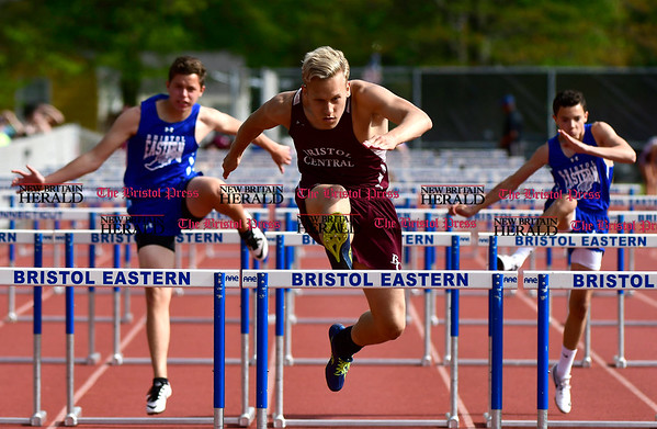 5/16/2017 Mike Orazzi | Staff Bristol Central's Elijah Ortiz during Tuesday's track meet at Eastern.