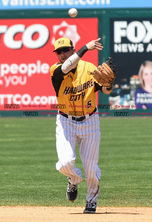 051617 Wesley Bunnell   Staff The New Britain Bees vs the Bridgeport Bluefish in the 2nd game of a double header played early afternoon on Tuesday. Michael Baca (5)