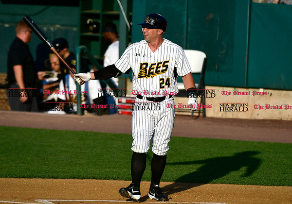 5/17/2017 Mike Orazzi | Staff New Britain Bees' Craig Maddox (24) Wednesday night.