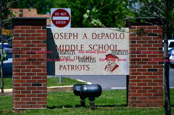 5/17/2017 Mike Orazzi | Staff The DePaolo Middle School in Southington.
