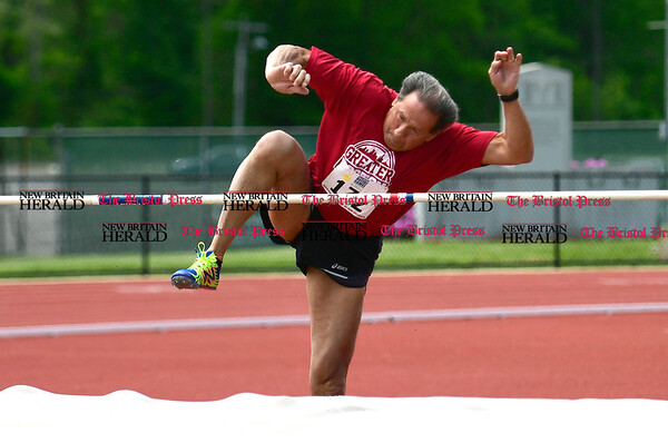 5/20/2017 Mike Orazzi   Staff Wayne Tavares while competing in Saturday's Connecticut Masters' Games at Willow Brook Park in New Britain.
