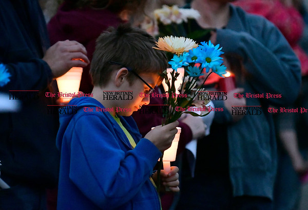 5/2/2017 Mike Orazzi | Staff A vigil held for a young boy who was killed Sunday in an accident while his father was moving a vehicle in the familys driveway.