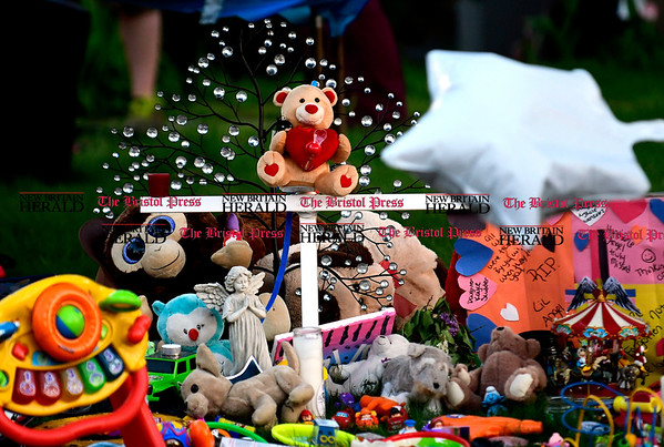 5/2/2017 Mike Orazzi   Staff A vigil held for a young boy who was killed Sunday in an accident while his father was moving a vehicle in the family's driveway.