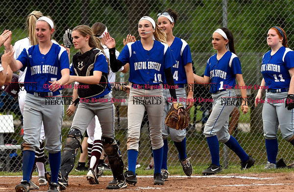 5/23/2017 Mike Orazzi | Staff Bristol Eastern softball after a 15-0 win over Bristol Central.