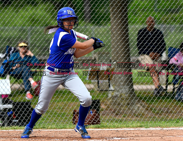 5/23/2017 Mike Orazzi | Staff Bristol Easterns Lexie Mastroianni (12) Tuesday at Eastern.