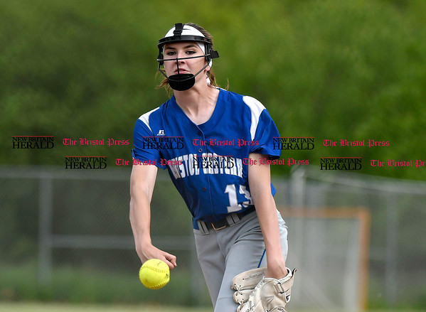 5/23/2017 Mike Orazzi | Staff Bristol Easterns Erin Girard (13) Tuesday at Eastern.