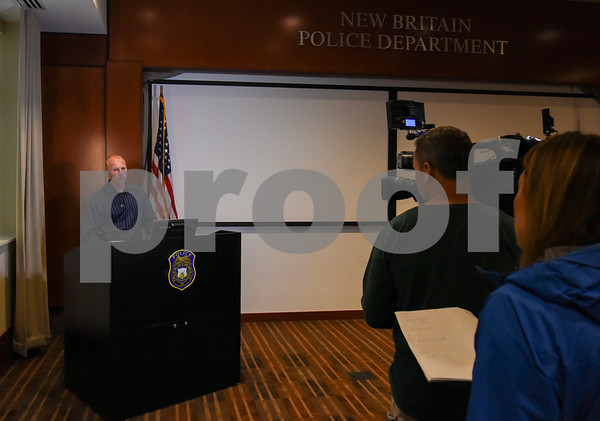 053117 Wesley Bunnell | Staff Captain Thomas Steck during a press conference held at police headquarters with details on a recent rape case.