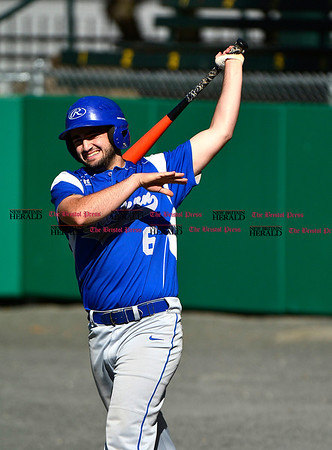 5/3/2017 Mike Orazzi | Staff Bristol Eastern's Anthony Lozier (6) during Wednesday's baseball game with New Britain at Muzzy Field.