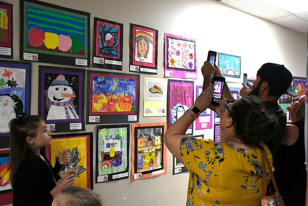 5/1/2018 Mike Orazzi | Staff Some of the artwork on display during the Community Art Show held at the Bristol Board of Education Tuesday evening.