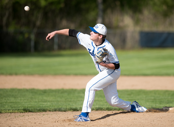 05/14/18 Wesley Bunnell | Staff St. Paul Catholic baseball vs Oxford at St. Paul Catholic High School on Monday afternoon. Pitcher Walker Sharp (12).
