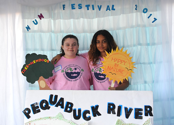 9/23/2017 Mike Orazzi | Staff Maggie Welton and Elizabeth Diaz during the 56th Annual Chrysanthemum Festival on Saturday in Bristol.
