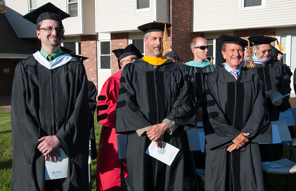 05/11/18 Wesley Bunnell | Staff Lincoln College of New England held their Fifty-first Annual Commencement Ceremony on Friday evening on the college campus. Faculty look on with smiles as the graduates march to their seats.