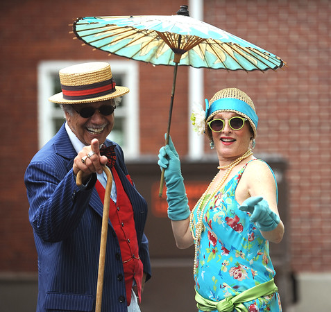 6/17/2017 Mike Orazzi | Staff Joel Silvestro and Prudence Sloane during the Klingberg Vintage Motorcar Festival in New Britain Saturday morning.