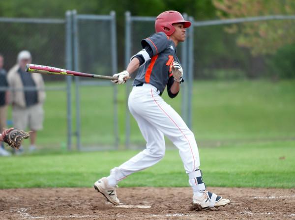 05/16/18 Wesley Bunnell   Staff Newington baseball defeated E.C. Goodwin Tech on Wednesday afternoon at Newington High School. Goodwin Tech Tom Hughes (2).
