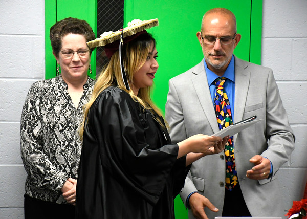 5/16/2018 Mike Orazzi | Staff Nicole Carey at the 2018 Bristol Adult Education Graduation Wednesday night held at the Bristol Adult Education Center.