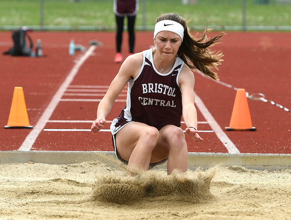 5/16/2018 Mike Orazzi | Staff Bristol Central's Ashleigh Clark Wednesday at BC.