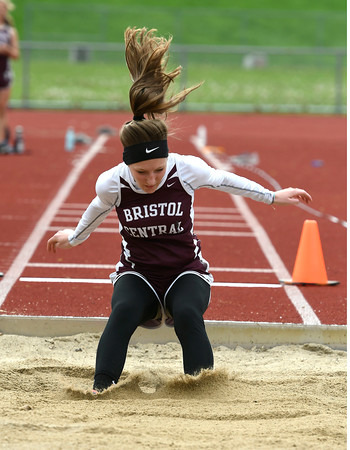5/16/2018 Mike Orazzi | Staff Bristol Central's Avery Hamilton Wednesday at BC.