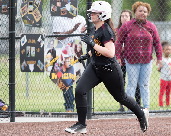 05/17/18 Wesley Bunnell   Staff New Britain softball defeated Wethersfield on Thursday afternoon at Chesley Park. Makaila Masterson (8)