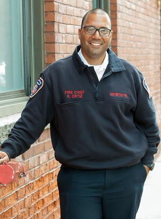 05/17/18 Wesley Bunnell   Staff New Britain Fire Chief Raul Ortiz.
