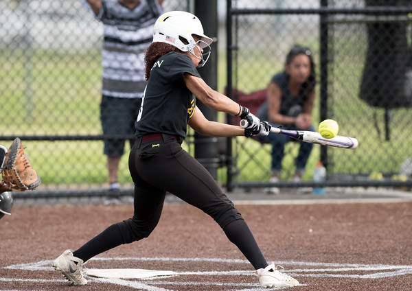 05/17/18 Wesley Bunnell   Staff New Britain softball defeated Wethersfield on Thursday afternoon at Chesley Park. Jada Lawson (9).